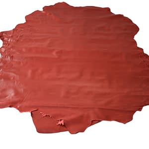 red sheep leather