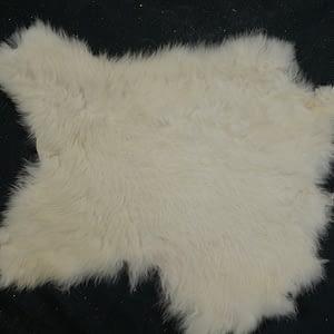 White rabbit skin